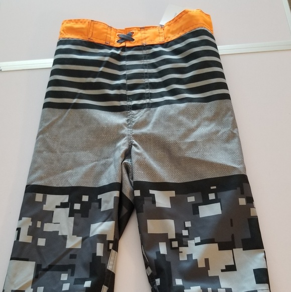 102dce1c9f Arizona Jean Company Swim | Husky Boy Orangeblackgray Trunk | Poshmark